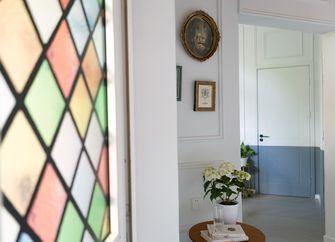 80平米三室一厅法式风格玄关图片
