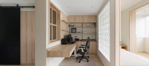 40平米小户型日式风格书房设计图