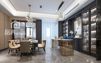 80平米三室两厅轻奢风格餐厅装修效果图