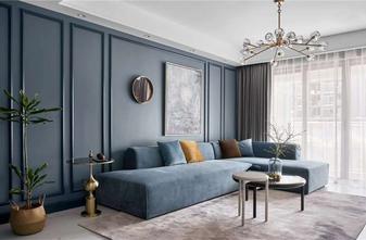 80平米法式风格客厅装修图片大全