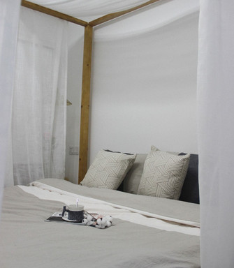 80平米三室一厅北欧风格卧室效果图