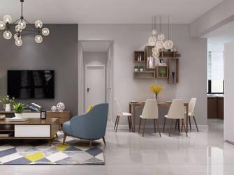 豪华型90平米三室两厅北欧风格餐厅装修图片大全