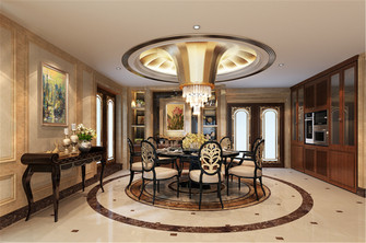 140平米新古典风格客厅装修效果图