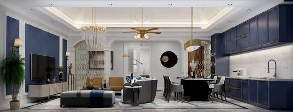 豪华型140平米三室两厅新古典风格客厅图片