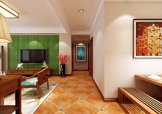 富裕型140平米三室两厅中式风格走廊图片