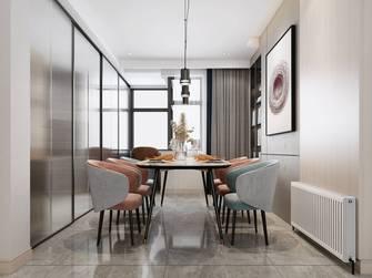 140平米三室四厅轻奢风格餐厅图片