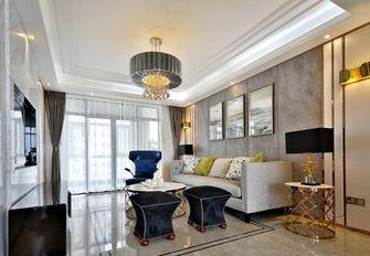 富裕型110平米三室三厅轻奢风格客厅装修图片大全