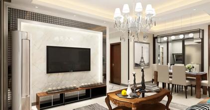 富裕型90平米三室三厅混搭风格客厅效果图