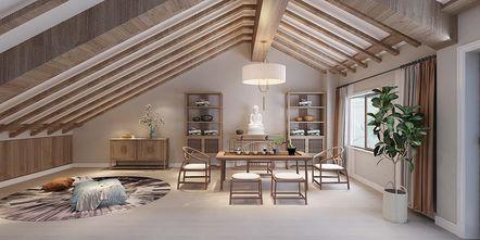 豪华型140平米三室三厅美式风格书房图片