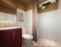 富裕型70平米公寓混搭风格卫生间欣赏图