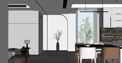15-20万140平米三室两厅混搭风格餐厅效果图