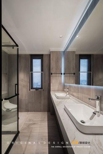 15-20万140平米三室一厅现代简约风格卫生间图片大全