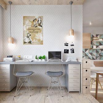 富裕型120平米三室两厅欧式风格书房装修图片大全