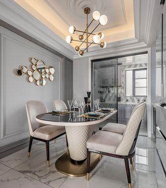 富裕型130平米三室两厅美式风格餐厅图片