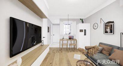 富裕型70平米现代简约风格客厅设计图