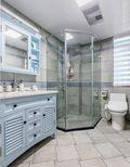 3万以下80平米三室三厅美式风格卫生间图片大全