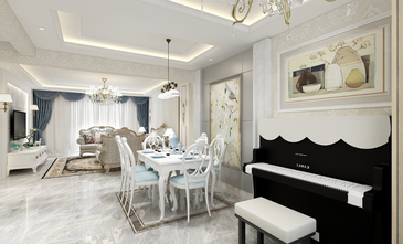 豪华型140平米四室两厅欧式风格客厅图片大全