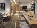 20万以上120平米三室两厅现代简约风格走廊设计图