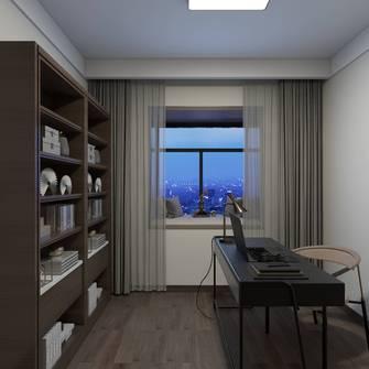 5-10万140平米四中式风格书房设计图