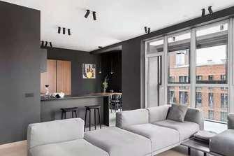 110平米三室两厅工业风风格客厅设计图