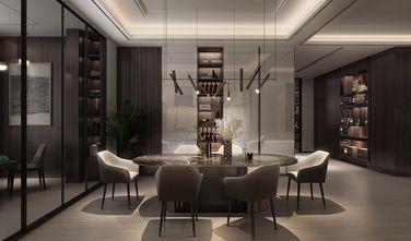 富裕型140平米三室两厅轻奢风格餐厅图