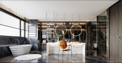 20万以上140平米别墅现代简约风格卫生间欣赏图