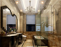 140平米三室一厅欧式风格卫生间装修图片大全