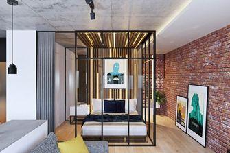 经济型60平米一居室工业风风格卧室图片大全