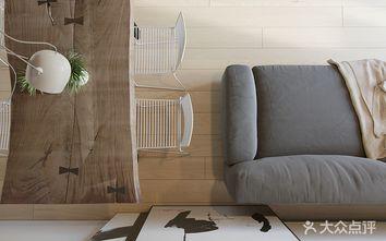 富裕型60平米公寓现代简约风格客厅图片
