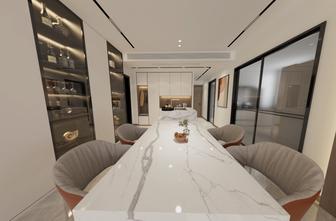 100平米三现代简约风格餐厅图