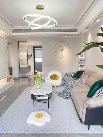 110平米三室两厅轻奢风格客厅欣赏图