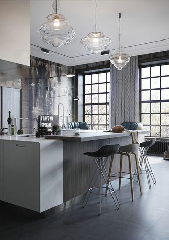豪华型140平米三室一厅工业风风格厨房图片大全