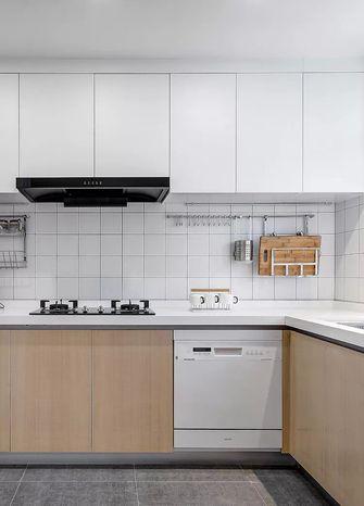 5-10万90平米三室一厅日式风格厨房设计图