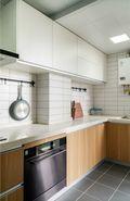 15-20万120平米三室两厅日式风格厨房图