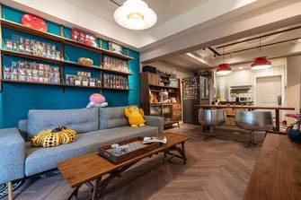 富裕型70平米公寓混搭风格客厅欣赏图