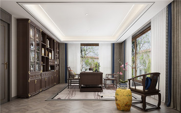 豪华型140平米别墅新古典风格书房图