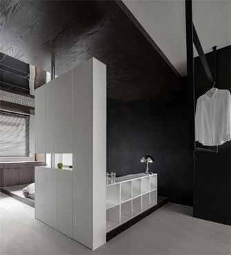 90平米现代简约风格卧室设计图