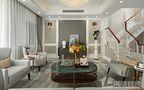 豪华型110平米三室一厅欧式风格客厅图片大全