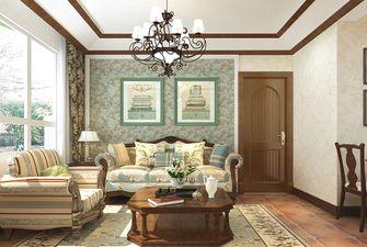 70平米英伦风格客厅图片大全