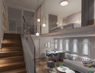 复式新古典风格楼梯间装修效果图
