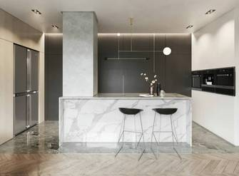 10-15万130平米现代简约风格厨房装修效果图