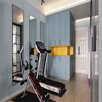 15-20万130平米三室两厅北欧风格健身房装修图片大全