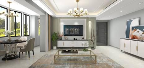 20万以上120平米三室一厅美式风格客厅图片