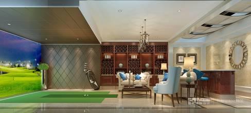 豪华型140平米三欧式风格健身房设计图