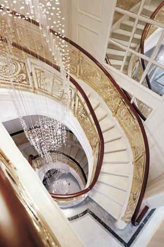 140平米四室两厅欧式风格楼梯间图片