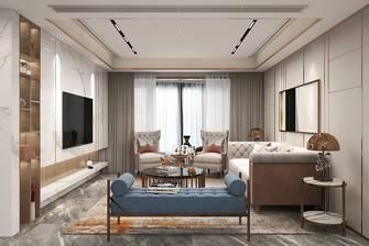5-10万140平米三室一厅轻奢风格客厅装修图片大全