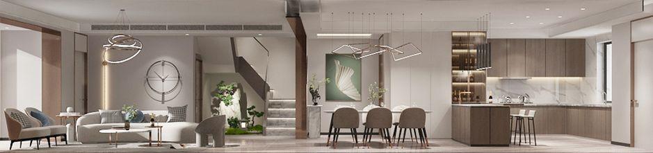 140平米复式北欧风格客厅图片大全