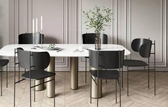富裕型130平米现代简约风格餐厅装修效果图