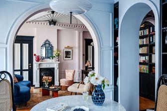富裕型80平米三室两厅美式风格餐厅装修图片大全