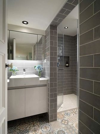 富裕型一室两厅美式风格卫生间设计图